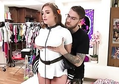 Mouthfuck is turned into brutal analfuck with Puerto Rican slut Skylar Snow