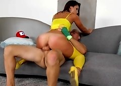 Pokemon Kelsi Monroe gets caught and fucked by a big dick stud