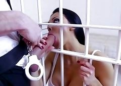 Busty Aletta Ocean analyzed by officer