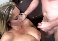 PAWG teacher Amber Lynn Bach gets pounded hard by her student in the class