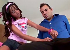 Zeina Heart gets her teen pussy fingered and pounded