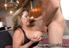 Hot Kandi Cox came to a friend of her son, and decided that he should fuck her