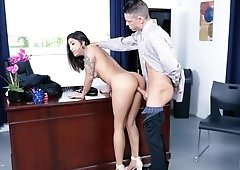 Mia Martinez fucking her boss in the office for job promotion