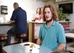 Redhead Milf waitress banging at job