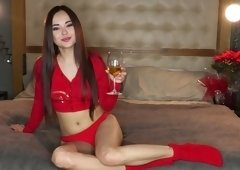 Mouth watering seductress Li Moon spreads legs and shows her captivating slit