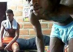 Black Gay Couple For Webcam
