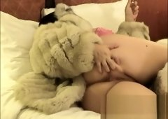 Jerking Him Off Wearing Fur