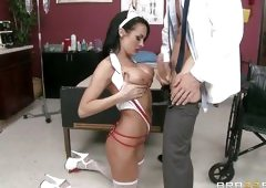 Naughty Nurse Taunts And Fucks Her Doc