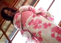 Rich breasted Japanese chubby babe Fuko jiggles with her boobs