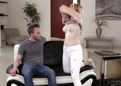 Lecherous chick Britney Light is fucked by her new boyfriend