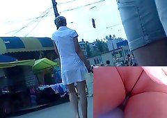 Tomboy with hot upskirt view