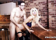 Gorgeous blonde MILF Tia Layne fucked hard by her buddy