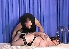 Mature Jays busty bdsm and hogtied bondage of tormented