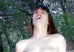 Nerdy Goth Beauty Gets Reamed In Forest.mp4
