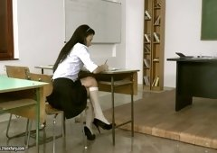 Gorgeous teen Alexi Star is fucked by horny and perverted teacher