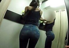 Legendary POV video starring Latin hooker Penelope Damatrix in the fitting room