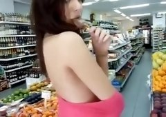 Insanely hot European chick loves public tease play