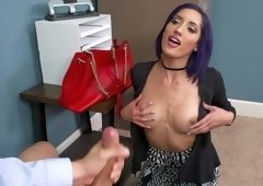 Slutty secretary likes to have steamy sex