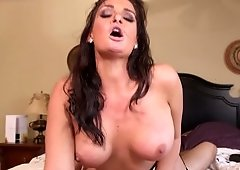 A sexy bitch that loves having sex is rammed on the bed