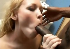 Bubble butt blondie Liv Wylder gets throated and throned in the shower by BBC