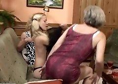 Fine-looking aged woman having a lesbian fuck