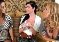 Rimming sex video featuring Kristen Cameron, Brianna Ray and London Jolie