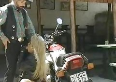 Hot Biker Chick Drilled Hard By...