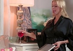 Alexis Fawx is a blonde cougar who wants to be fucked hard
