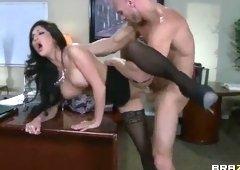 Marvelous dusky British MILF Emily B in hardcore porn video