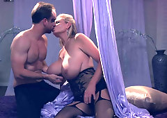 Glam milf Kelly Madison gets cum on her enormous tits