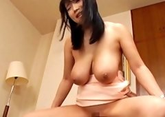 Awesome Shibuya Kaho likes to ride a dick while her boobs bounce