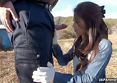 Nice Asian chick Maki Hojo is fucked and creampied by several guys