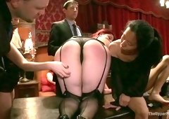 Wolf Hudson & Holly Heart & Simone Sonay in Kinky Milf Sex Slaves Service Hot Stud Dick - TheUpperFloor