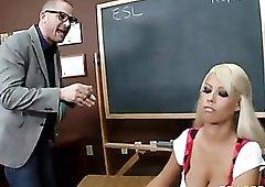 Busty slut Bridgette B nailed on a desk