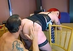 Red haired whore got what she wanted