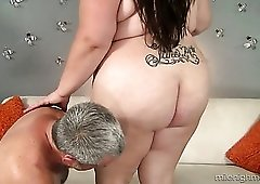 Incredibly hungry for orgasm SSBBW nympho Bella Bendz rides stiff dick