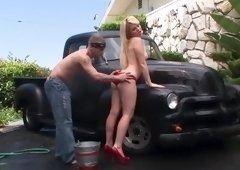 Sugar blond Alexis Ford in outdoor