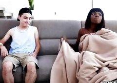 Naughty Black Babe Got Caught Masturbating