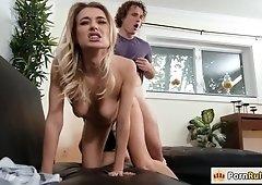 Horny Natalia fucking her room mates bf
