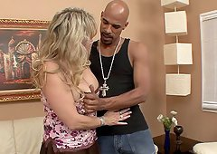 Wanda Lust makes a booty call and gets BBC for her mature pussy