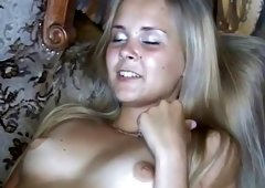 Two hot lesbians play with each other