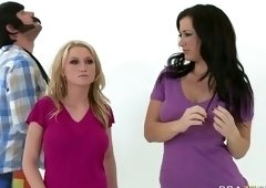 Brunette porn video featuring Jayden Jaymes and Madison Scott