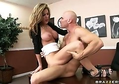 Handsome breasty Kayla Paige is sucking my penis