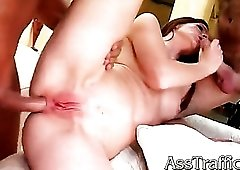 Skinny anal slut swallows their cumshots