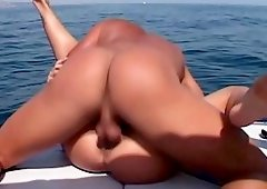 Insatiable women want to ride cocks while being on a boat
