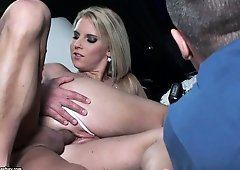 Backstage with Eve Sweet and she's enjoying another hot fuck