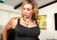 Playgirl with hot big tits in hardcore sex action in office