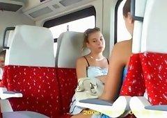 Cock flashing in the train