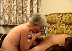 Hot mature blowjob with cumshot