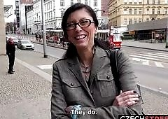 Shy Czech Teacher Sucks My Dick